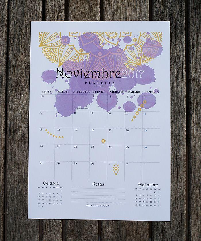 calendario 2017 imprimible