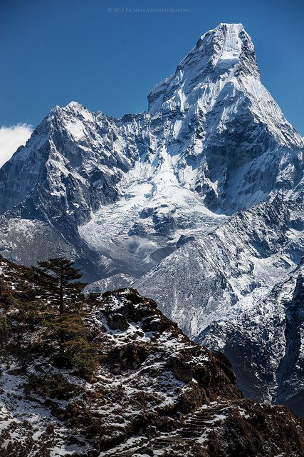 Sagarmatha National Park is a protected area in the Himalayas of eastern Nepal containing the southern half of Mount Everest. The park was created on July 19, 1976 and was inscribed as a Natural World Heritage Site in 1979.