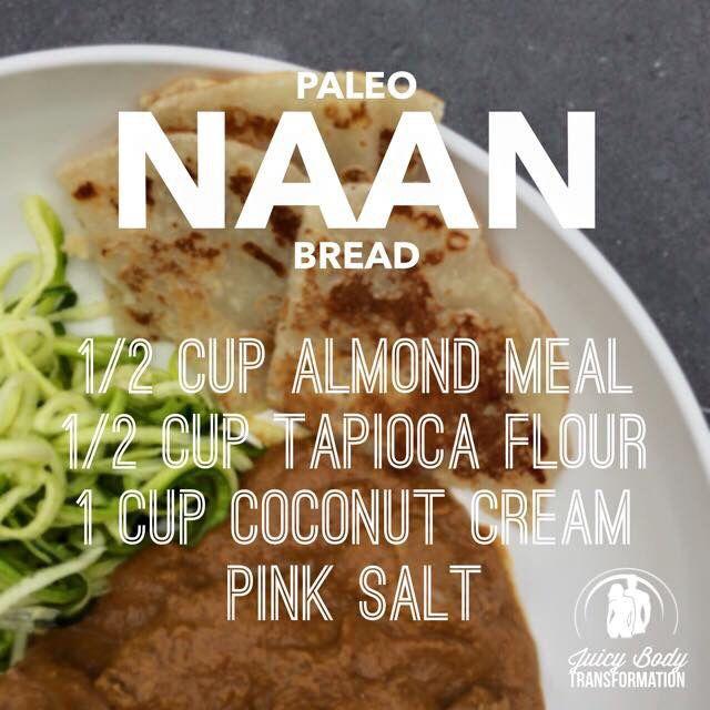 Paleo naan bread recipe Facebook.com/missnkdfoods