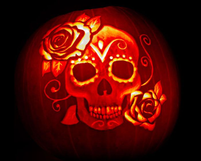 Ideas about sugar skull pumpkin on pinterest