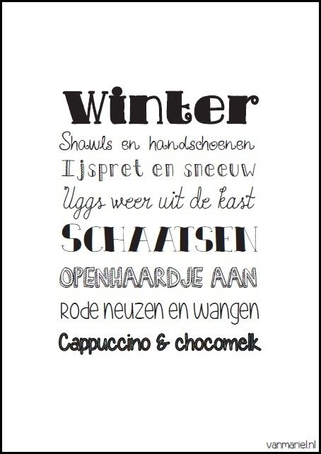 Winter - Buy it at www.vanmariel.nl - Poster € 3,95 - Card € 1,25