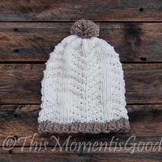 Loom Knit Broken Herringbone Hat Pattern. So Pretty!