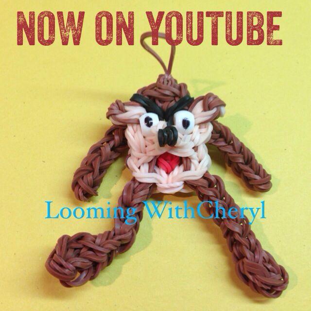 Rainbow Loom Taz Tasmanian Devil (Looney Tunes) gomas now on YouTube please subscribe ❤️❤️ http://m.youtube.com/user/LoomingWithCheryl