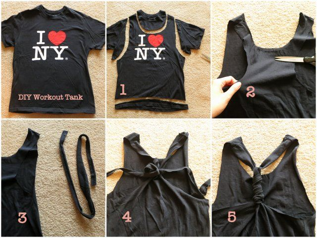 Cutting Shirts Into Tank Tops | ... an old t-shirt (the bigger the shirt, the baggier the fit of the tank