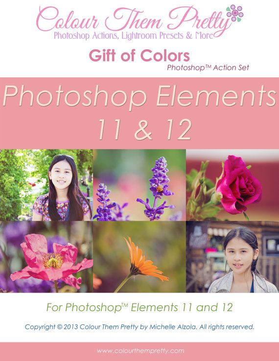 31 Photoshop Actions PS Elements - Gift of Colors by ColourThemPretty, $6.50
