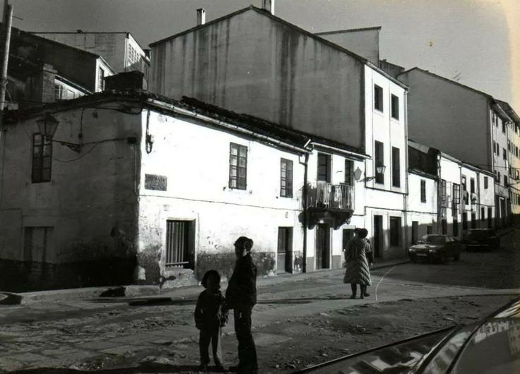 Rua San Pedro. Fotos antiguas de Santiago de Compostela.