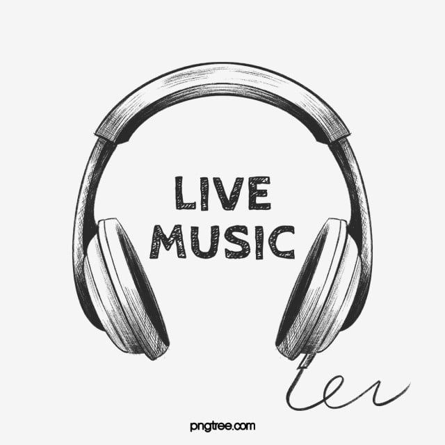 Live Music Black And White Headphones Draft Music Clipart Dj Headset Png Transparent Clipart Image And Psd File For Free Download White Headphones Music Clipart Headphones
