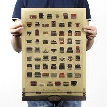 """""""H230"""" пишущей машинки Гиннеса/канцелярские/Крафт-ностальгия класса декоративной живописи 51x35.5 см(China (Mainland))"""