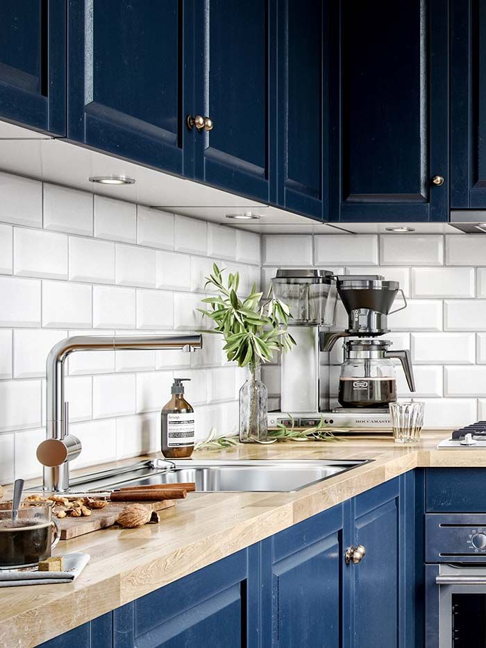 Beautiful Blue Kitchens That Could Inspire Your Next Makeover Scandi Kitchen Kitchen Remodel Scandinavian Kitchen