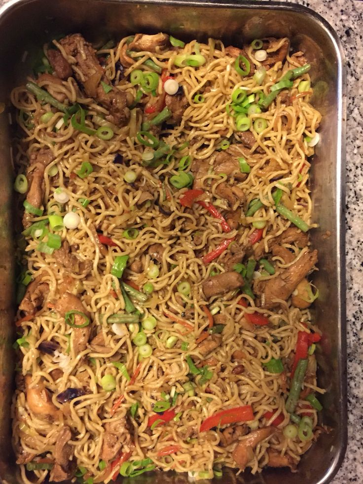 Guyanese Chow Mein - Mostly used Gluten & GMO Free ingredients