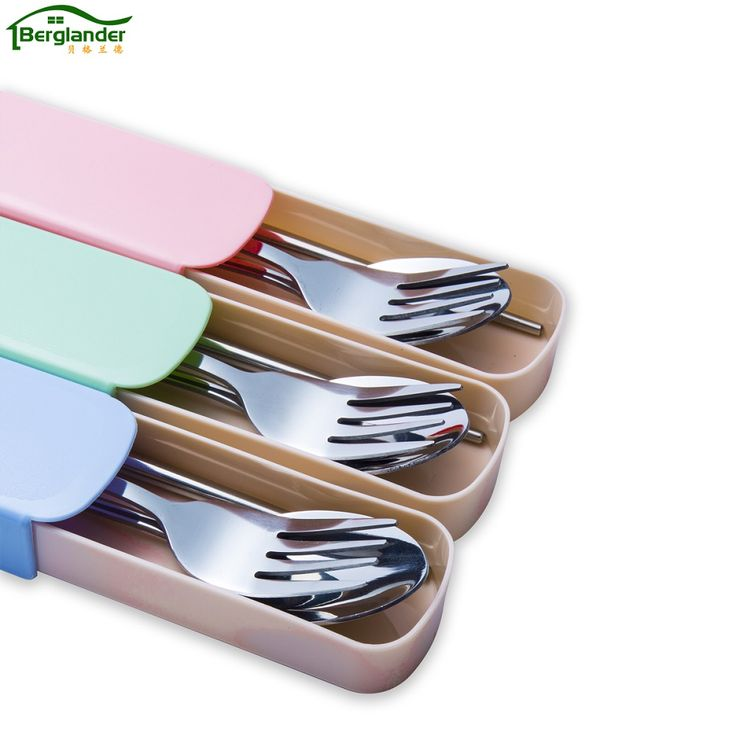 Cheap Dinnerware Sets, Buy Directly from China Suppliers:BERGLANDER 4pcs/sets Stainless Steel Tableware Set Portable Cutlery set Travel Picnic Dinnerware Set For Kids School tableware