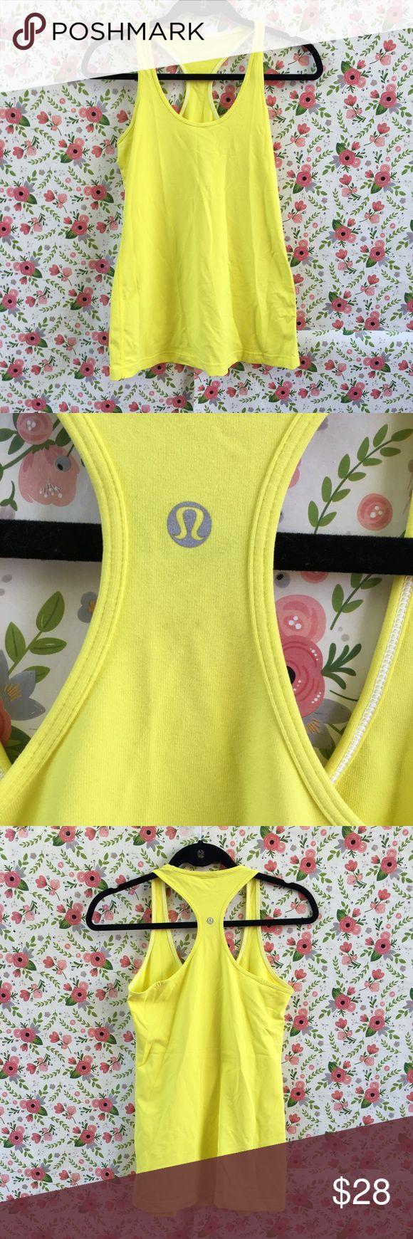 Lululemon Yellow Tank Top In good condition lululemon athletica Tops Tank Tops