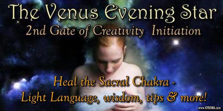 Kyrona gifts you this Light Language Healing Song attuning to the 2nd Gate of Creativity initiation of the Venus Evening Star Cycle. Heal your SACRAL CHAKRA - its about pleasure, sex & money! #venus,#venussynodiccycle, #lightlanguage, #freehealing, #energyhealing, #capricorngoddess