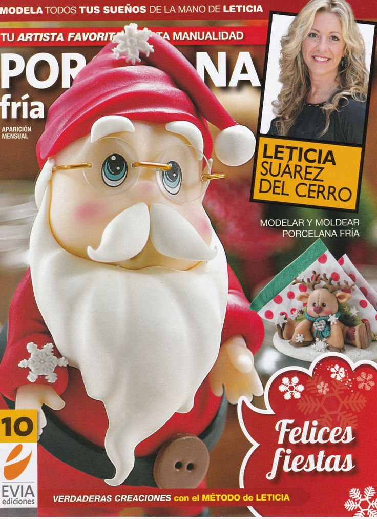 Cold Porcelain magazine 10 (2013)  by Leticia Suarez del Cerro (Spanish) Christmas Projects Step by Step - Porcelana fria - Biscuit - Clay by AmGiftShoP on Etsy