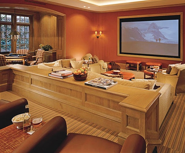 Home Theaters in Celebrity Homes