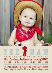 Cowboy Western yee haw 1st birthday party found via Posh Petals and Pearls - http://174.37.159.227/~poshpetym/blog/?p=430