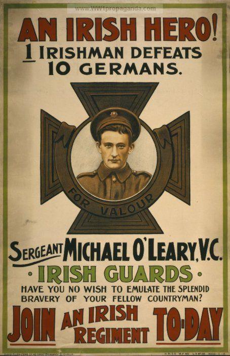 Irish guards recruiting poster, 1915.