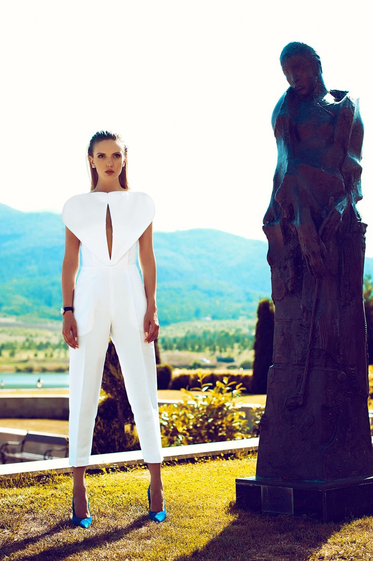 White Jumpsuit, Women's Jumpsuit, Summer Jumpsuit, Extravagant Jumpsuit, Designer Jumpsuit, Avant-Garde Jumpsuit, Sexy Jumpsuit, by GIAMIAcollection on Etsy https://www.etsy.com/listing/250885282/white-jumpsuit-womens-jumpsuit-summer