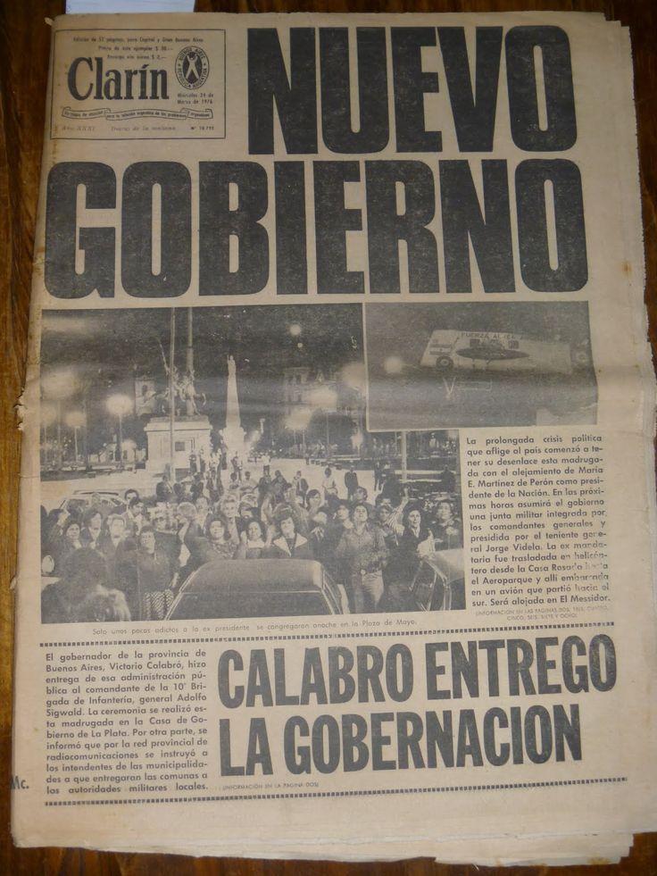 8 tapas de diarios y revistas del 24 de marzo de 1976