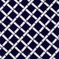 Criss Cross Cadence in Navy Blue Indoor Outdoor Fabric PP16