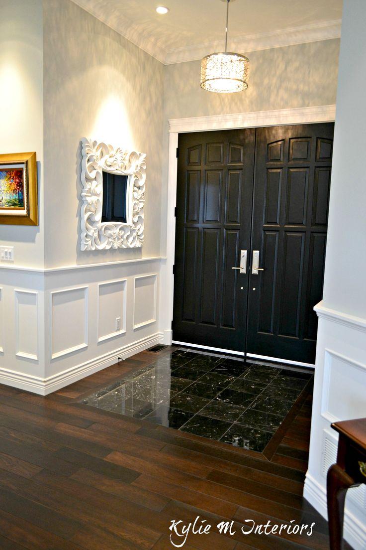 10 best doors images on pinterest black interior doors black entryway with dark wood flooring black marble tile and double front door with benjamin moore eventelaan Gallery