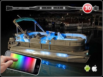 Premium 30pc 270 LED IOS Android WiFi App Control Million Color Marine Boat  Neon Accent Light