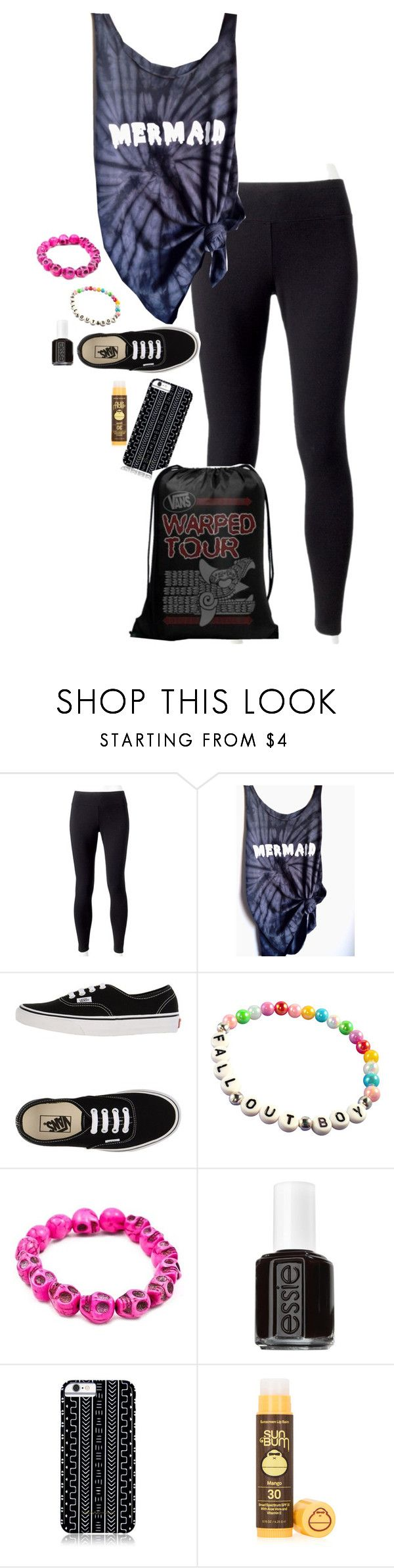 """""""feel good"""" by un-iversal ❤ liked on Polyvore featuring Jockey, Vans, Essie, Savannah Hayes and Sun Bum"""