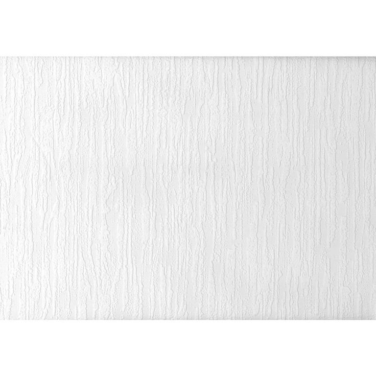 8 in. W x 10 in. H Paintable Cascade Plaster Texture Wallpaper Sample, White & Off-White