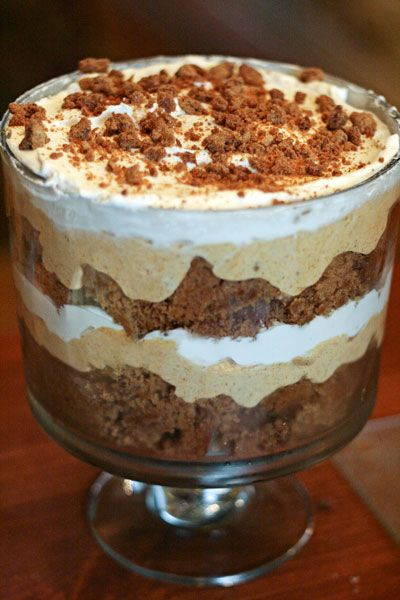 Pumpkin Gingerbread Trifle. A big YES for this fall!