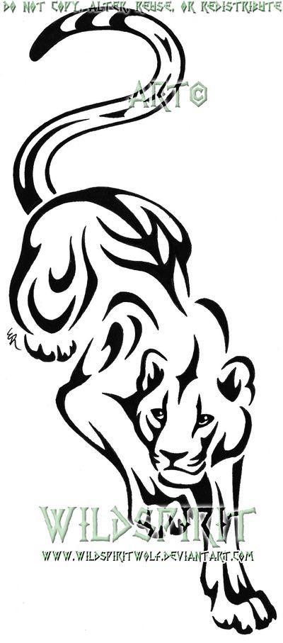Stalking Panther Tattoo by WildSpiritWolf.deviantart.com on @deviantART