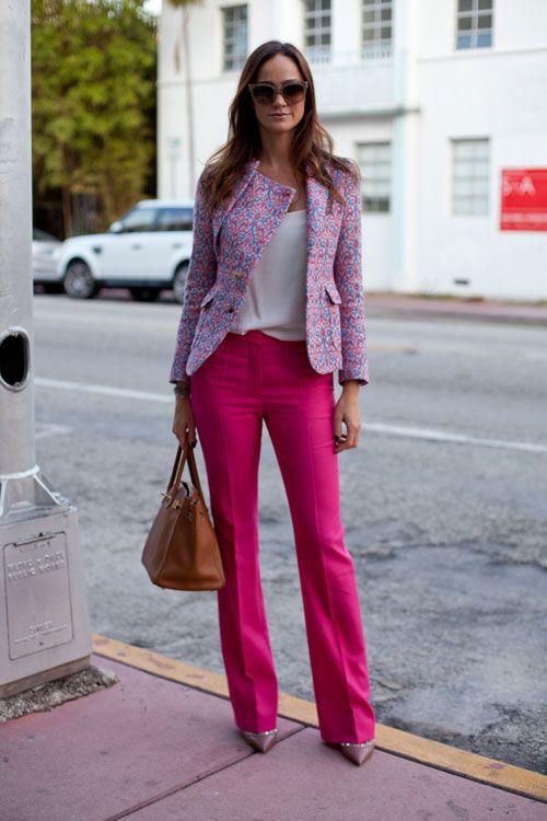 Hot pink work pants