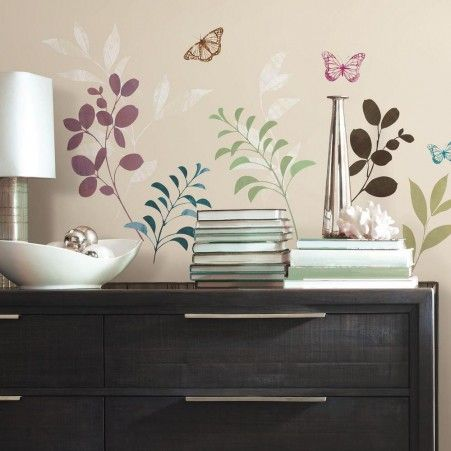 Botanical Butterfly Peel And Stick Wall Decals Part 95
