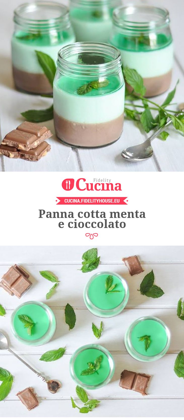 Panna cotta menta e cioccolato