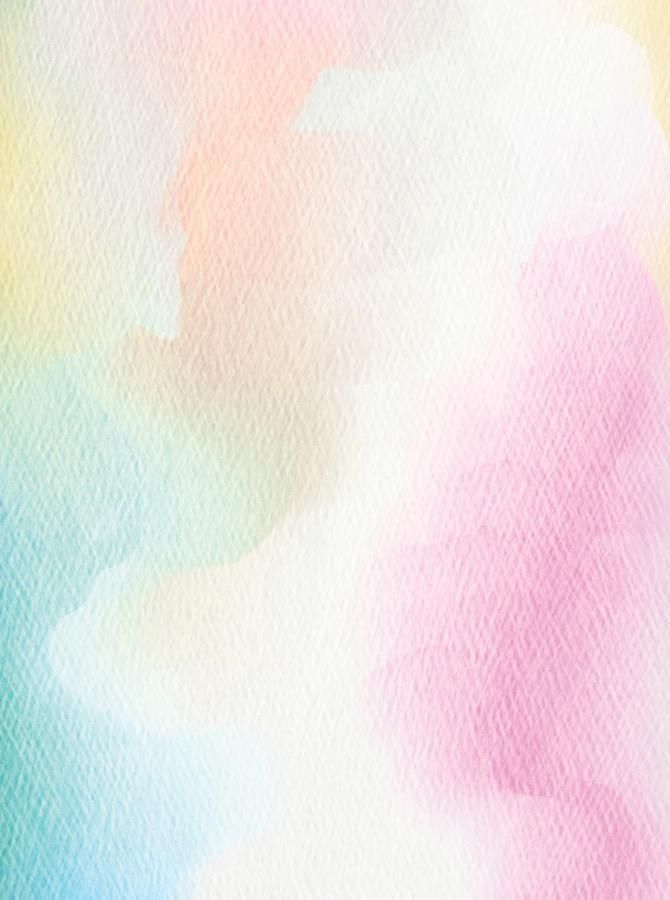 Pastel Watercolor Paper Texture Printed Backdrop 6850