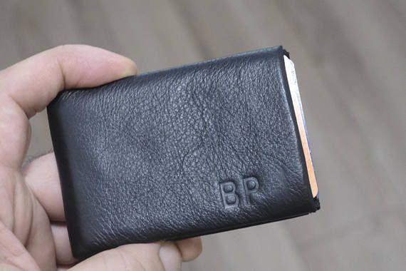 Mens Wallet, Minimalist Wallet, Womens Wallet, Leather Wallet, RFID Wallet, Limited Edition NERO Wallet – Groomsmen Gifts