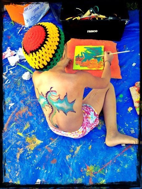 Dragon painted by Paulien Lemmen