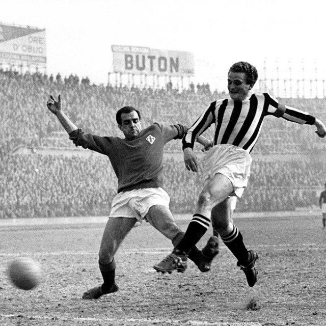Giampiero #Boniperti in uno #JuventusFiorentina d'annata