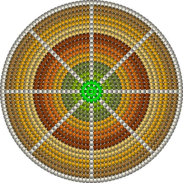 bodem herfst kleuren , heeft 168 steken, 21 toeren