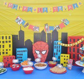 Spiderman Birthday Party {DIY} + Free Superhero Food Label ...