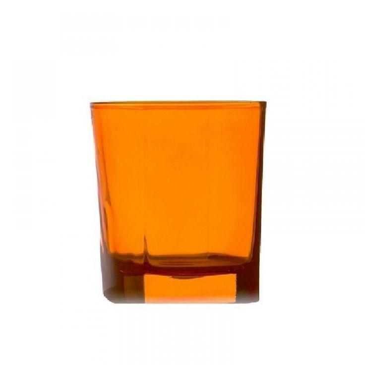 Ποτήρι κρασιού πορτοκαλί σετ/6 Casa di Regali