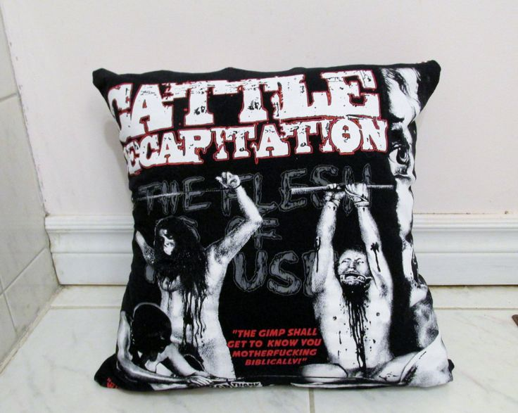 Cattle Decapitation Pillow DIY Death Metal Decor #3 (Cover Only) by DarkStormDesign on Etsy
