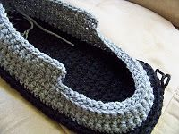 Crochet Mens Slipper Pattern