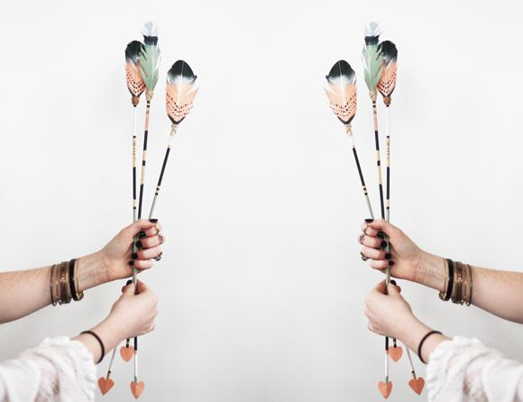 Photos & Video – DIY Feather Arrows For Valentine's Day | Free People Blog