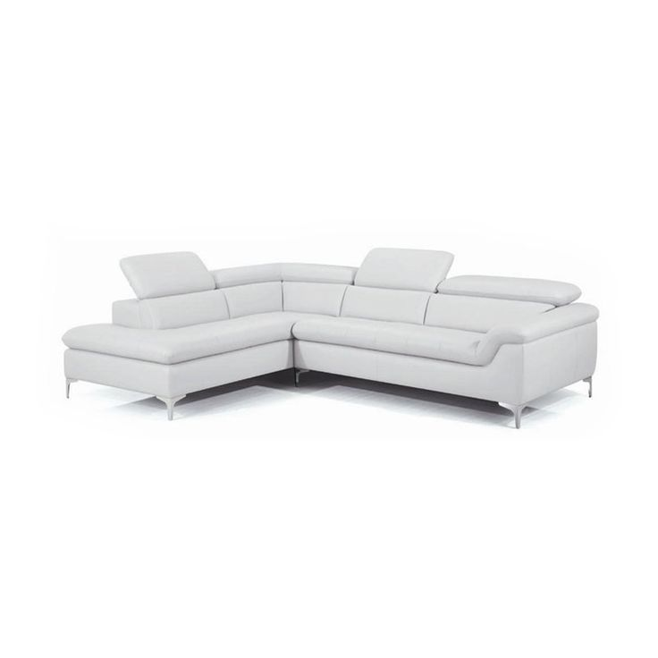New Spec Danco Leather Sectional Sofa - White | from hayneedle.com