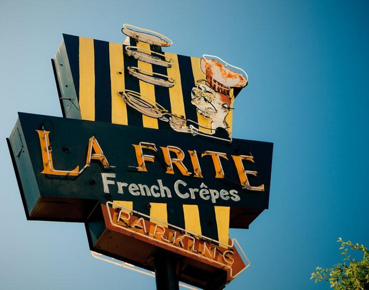 La Frite French Crepes Vintage Neon Sign - Sherman Oaks - Los Angeles