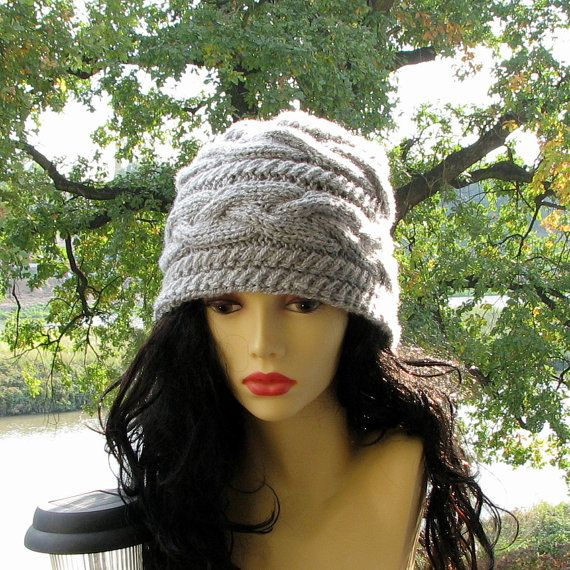 Slouchy Beanie Slouch Hats Oversized Baggy cabled by AlbadoFashion, $35.00