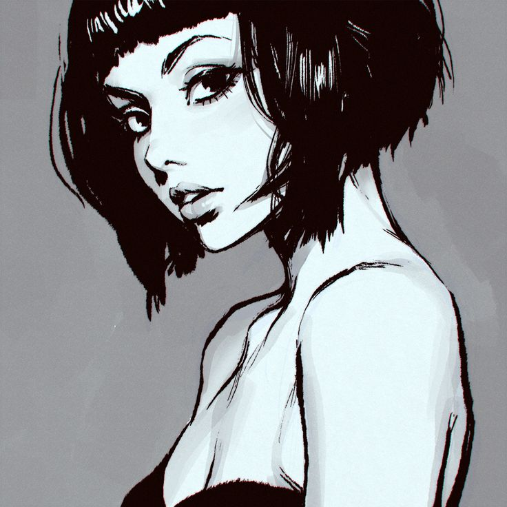 Kuvshinov Ilya - Anatomía femenina, ojos, nariz.