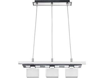 Three light pendant, chrome