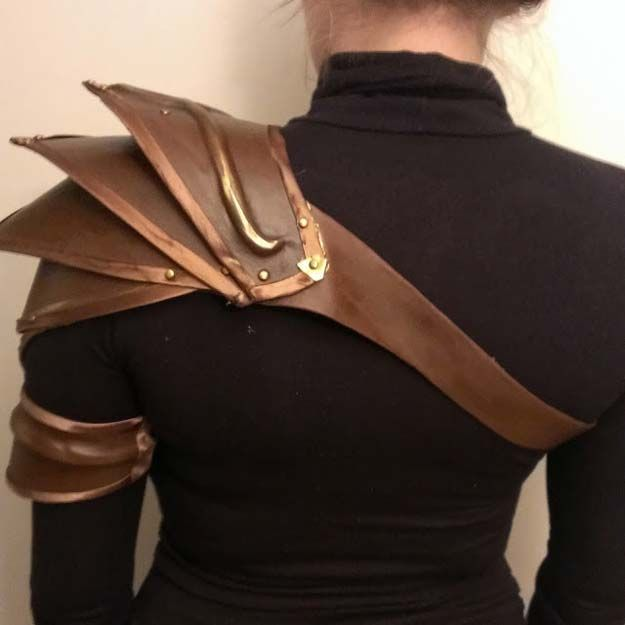 Cool Steampunk DIY Ideas - DIY Elvish Pauldrons - Easy Home Decor, Costume Ideas, Jewelry, Crafts, Furniture and Steampunk Fashion Tutorials - Clothes, Accessories and Best Step by Step Tutorials - Creative DIY Projects for Adults, Teens and Tweens