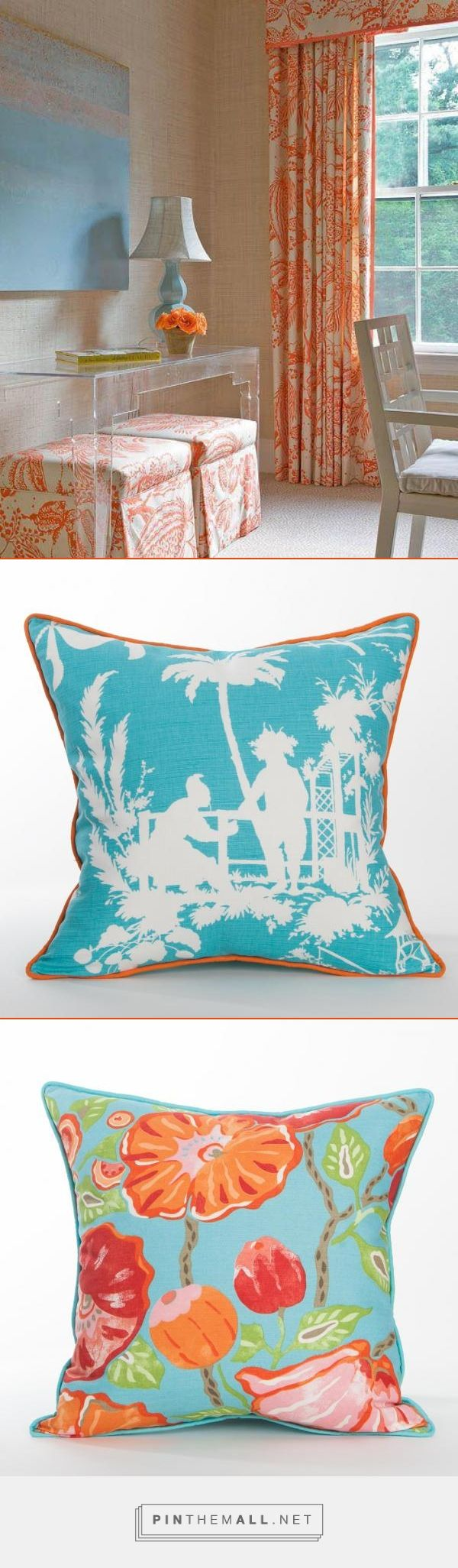 Inspiration -Palm Beach Style @ Coastal Home Pillows -